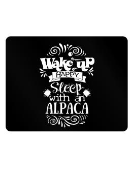 Wake up happy sleep with a Alpaca Parking Sign - Horizontal