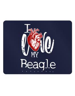 I love my Beagle hearts Parking Sign - Horizontal