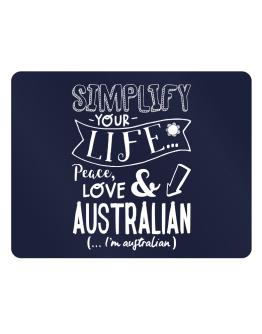 Simplify your life: Peace, love and Australian Parking Sign - Horizontal