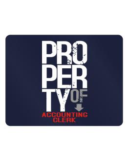 Property of Accounting Clerk Parking Sign - Horizontal