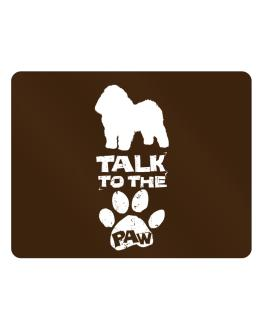 Talk To The Paw Bolognese Parking Sign - Horizontal