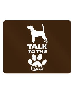 Talk To The Paw Beagle Parking Sign - Horizontal