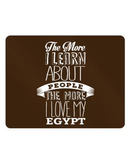 The more I learn about People the more I love my Egypt Parking Sign - Horizontal