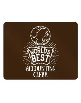 World Best Accounting Clerk Parking Sign - Horizontal