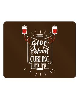 Give blood, Curling Parking Sign - Horizontal