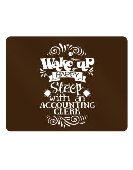 Wake up happy sleep with a Accounting Clerk Parking Sign - Horizontal