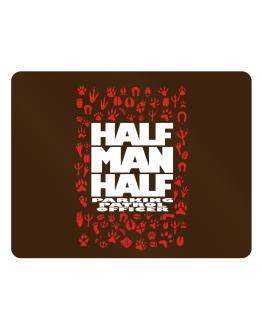 Half man, half Parking Patrol Officer Parking Sign - Horizontal