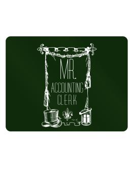 Mr. Accounting Clerk Parking Sign - Horizontal