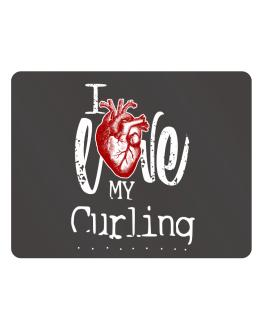 I love my Curling hearts Parking Sign - Horizontal