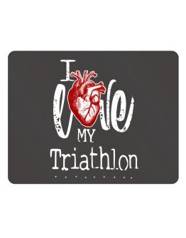 I love my Triathlon hearts Parking Sign - Horizontal