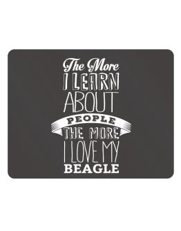 The more I learn about People the more I love my Beagle Parking Sign - Horizontal
