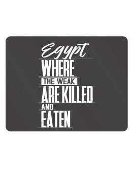 Egypt where the weak are killed and eaten Parking Sign - Horizontal