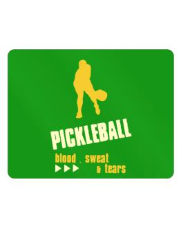 """ Pickleball ... BLOOD , SWEAT & TEARS "" Parking Sign - Horizontal"