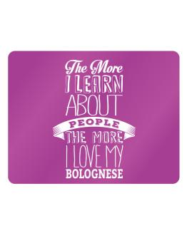 The more I learn about People the more I love my Bolognese Parking Sign - Horizontal