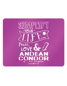 Simplify your life: Peace, love and Andean Condor Parking Sign - Horizontal
