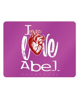 I love Abel heart Parking Sign - Horizontal