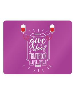 Give blood, Triathlon Parking Sign - Horizontal