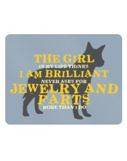 The Girl In My Life Australian Cattle Dog Parking Sign - Horizontal