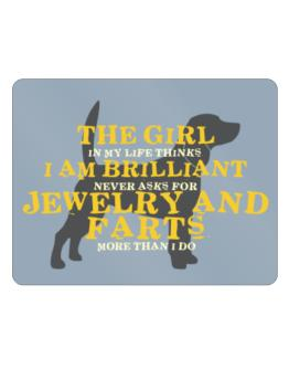 The Girl In My Life Beagle Parking Sign - Horizontal