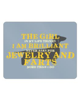 The Girl In My Life Dachshund Parking Sign - Horizontal