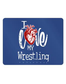 I love my Wrestling hearts Parking Sign - Horizontal