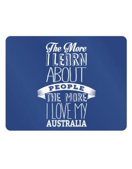 The more I learn about People the more I love my Australia Parking Sign - Horizontal