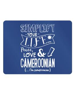 Simplify your life: Peace, love and Cameroonian Parking Sign - Horizontal