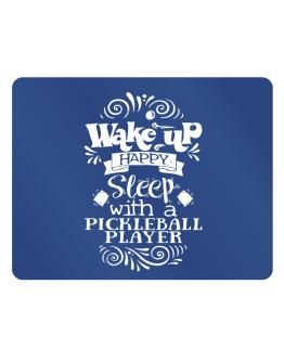Wake up happy sleep with a Pickleball Player Parking Sign - Horizontal