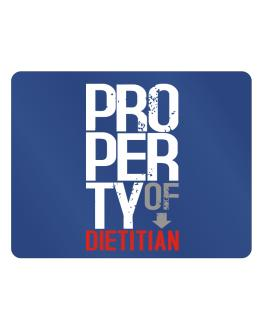 Property of Dietitian Parking Sign - Horizontal