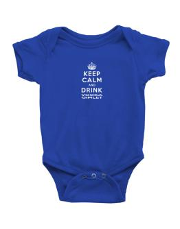 Keep calm and drink Vodka Gimlet Baby Bodysuit