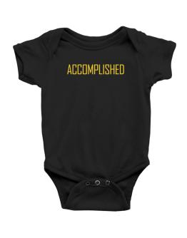 Accomplished - Simple Baby Bodysuit