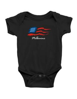 Melbourne - Us Flag Baby Bodysuit