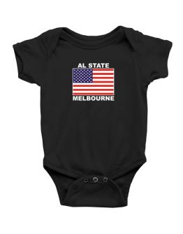 """ Melbourne - US Flag "" Baby Bodysuit"