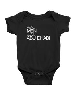 Real men love Abu Dhabi Baby Bodysuit