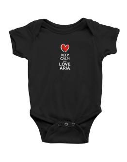 Keep calm and love Aria chalk style Baby Bodysuit