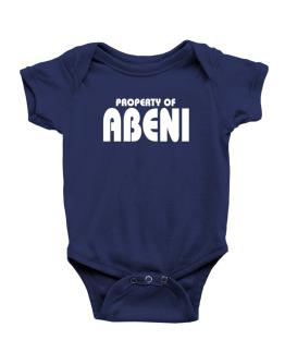 Property Of Abeni Baby Bodysuit