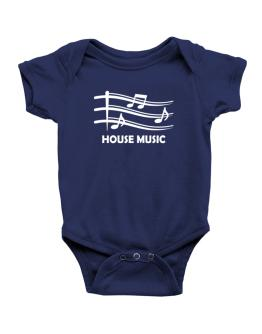 House Music - Musical Notes Baby Bodysuit