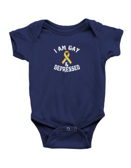 I Am Gay And Depressed Baby Bodysuit