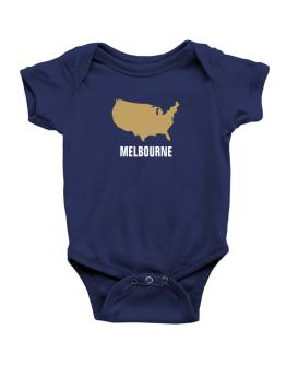 Melbourne - Usa Map Baby Bodysuit