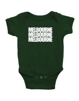 Melbourne three words Baby Bodysuit