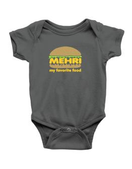 Mehri My Favorite Food Baby Bodysuit