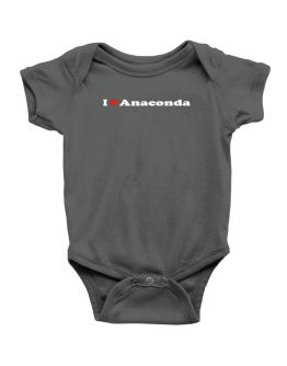 I Love Anaconda Baby Bodysuit