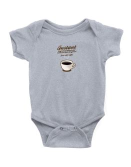 Instant Agricultural Microbiologist, just add coffee Baby Bodysuit