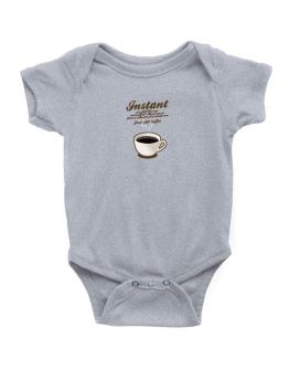 Instant Office Machine Technician, just add coffee Baby Bodysuit