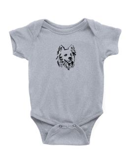 """"""" Australian Cattle Dog FACE SPECIAL GRAPHIC """" Baby Bodysuit"""
