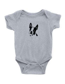 Boston Terrier Face Special Graphic Baby Bodysuit
