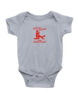 Sex & Drugs And House Music Baby Bodysuit