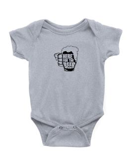 Here For The Beer Baby Bodysuit