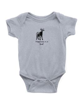Happiness is a Goat Baby Bodysuit