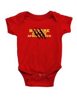Beware Of The African Lion Baby Bodysuit